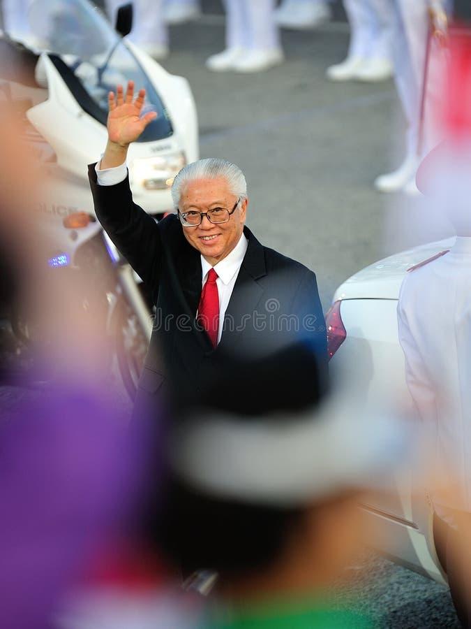 Presidente Dott. Tony Tan che fluttua durante il NDP 2012 fotografie stock