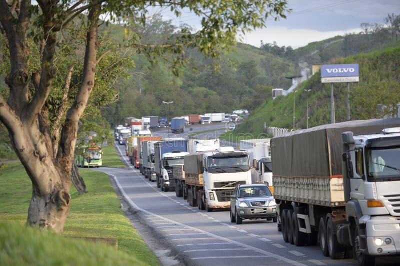 Presidente Dutra Road. Barra Mansa, Brazil - november 29, 2017: Main Presidente Dutra Highway linking the city of São Paulo to Rio de Janeiro near KM 277 with stock images