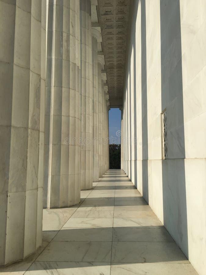 Presidente Einstein della Casa Bianca del monumento commemorativo di notte di Lincoln del Washington DC fotografie stock libere da diritti