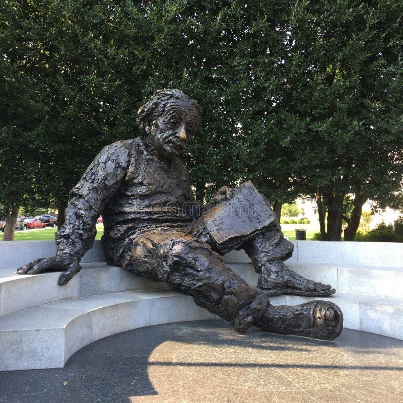 Presidente Einstein della Casa Bianca del monumento commemorativo di notte di Lincoln del Washington DC fotografia stock libera da diritti