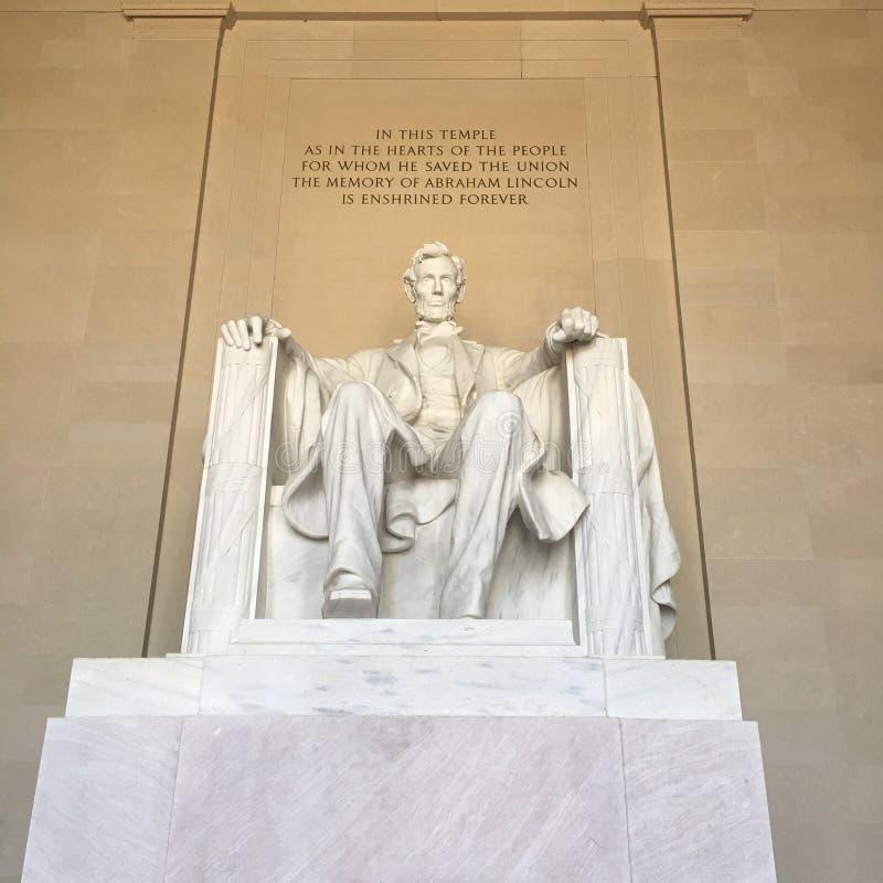 Presidente Einstein della Casa Bianca del monumento commemorativo di notte di Lincoln del Washington DC immagine stock libera da diritti