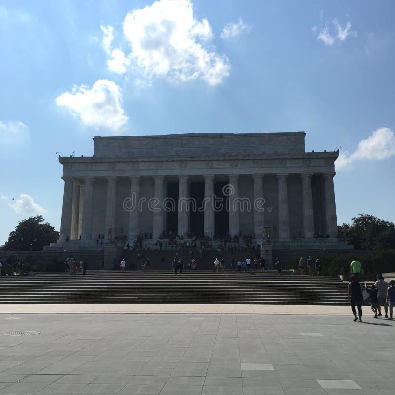 Presidente Einstein della Casa Bianca del monumento commemorativo di notte di Lincoln del Washington DC immagine stock