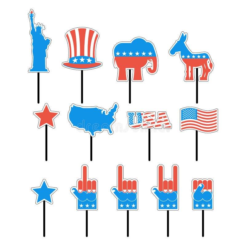 Presidente elección de la muestra de la espuma de América Fije los apoyos de la foto para el pho libre illustration