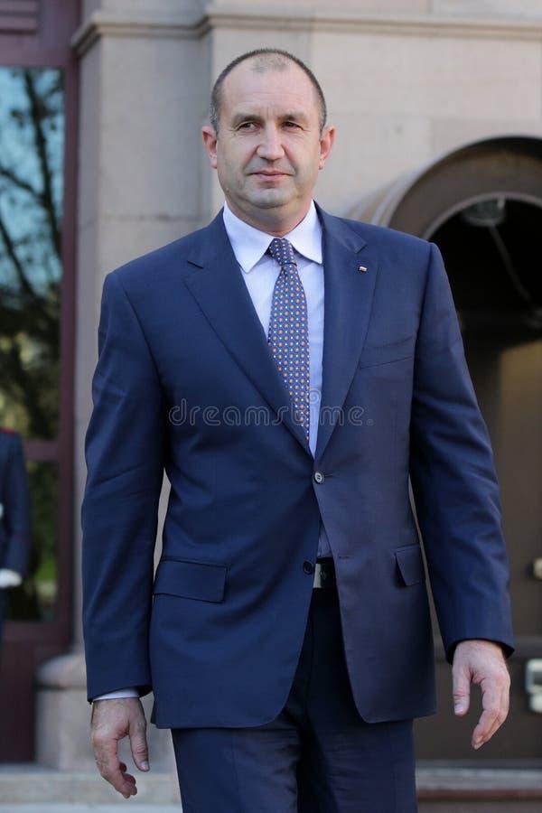 Presidente-eleja a pança Radev imagens de stock