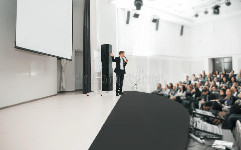 Presidente en el convenio del negocio imagen de archivo