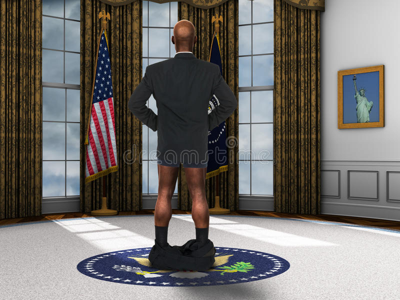 Presidente engraçado Barack Obama Spoof ilustração do vetor
