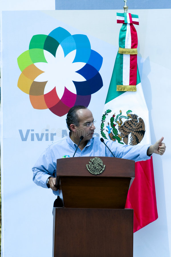 Presidente Felipe Calderon de México imágenes de archivo libres de regalías