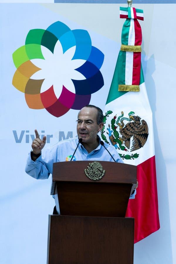 Presidente Felipe Calderon de México fotografía de archivo libre de regalías