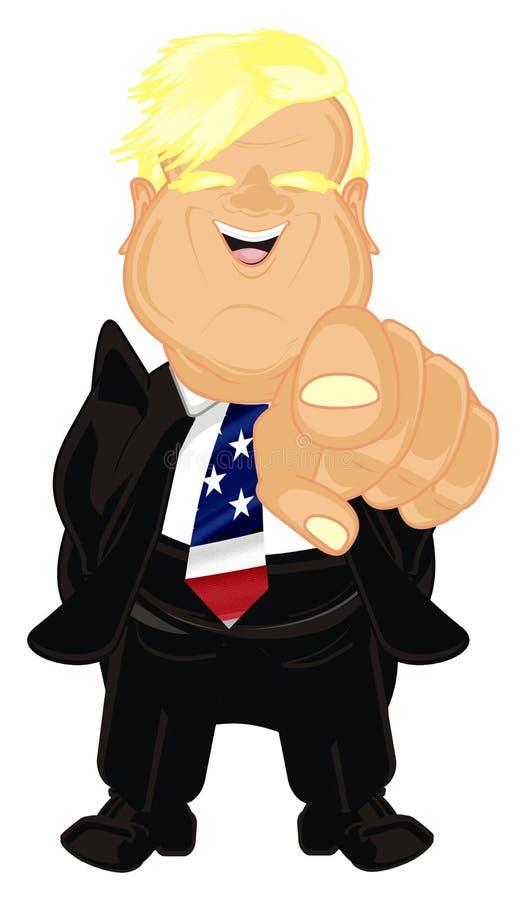 Presidente feliz los E.E.U.U. ilustración del vector