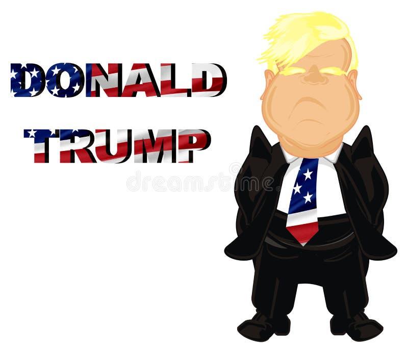 Presidente feliz los E.E.U.U. y su nombre de la O.N.U ilustración del vector