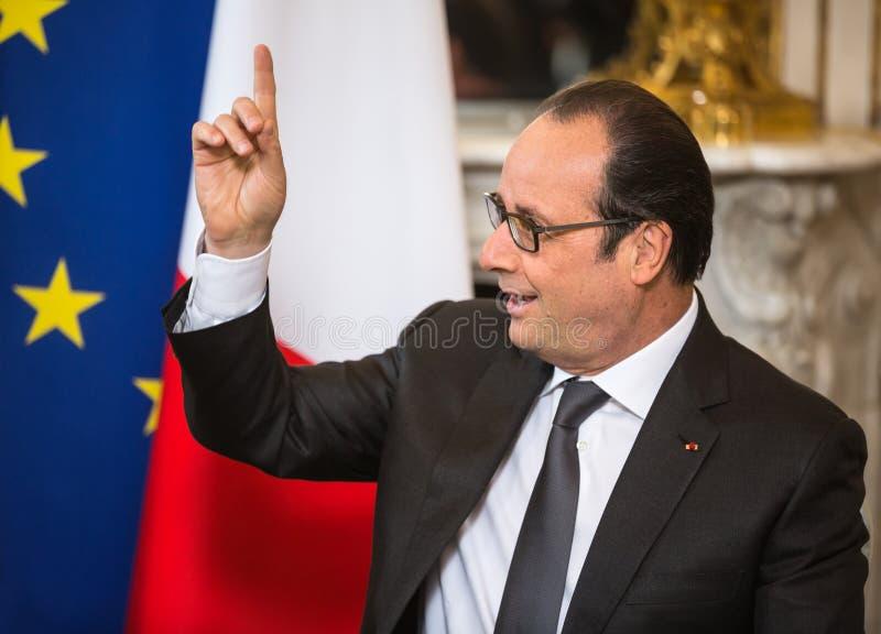 Presidente francés Francois Hollande fotografía de archivo libre de regalías