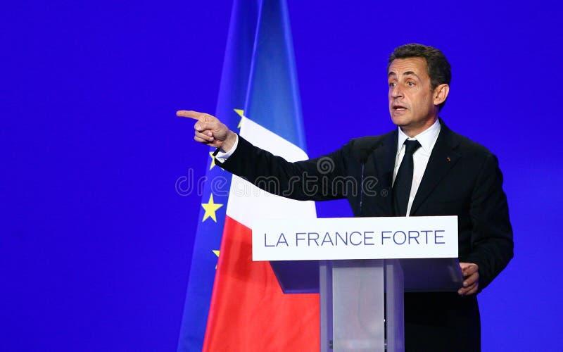 Presidente francese Nicolas Sarkozy immagini stock