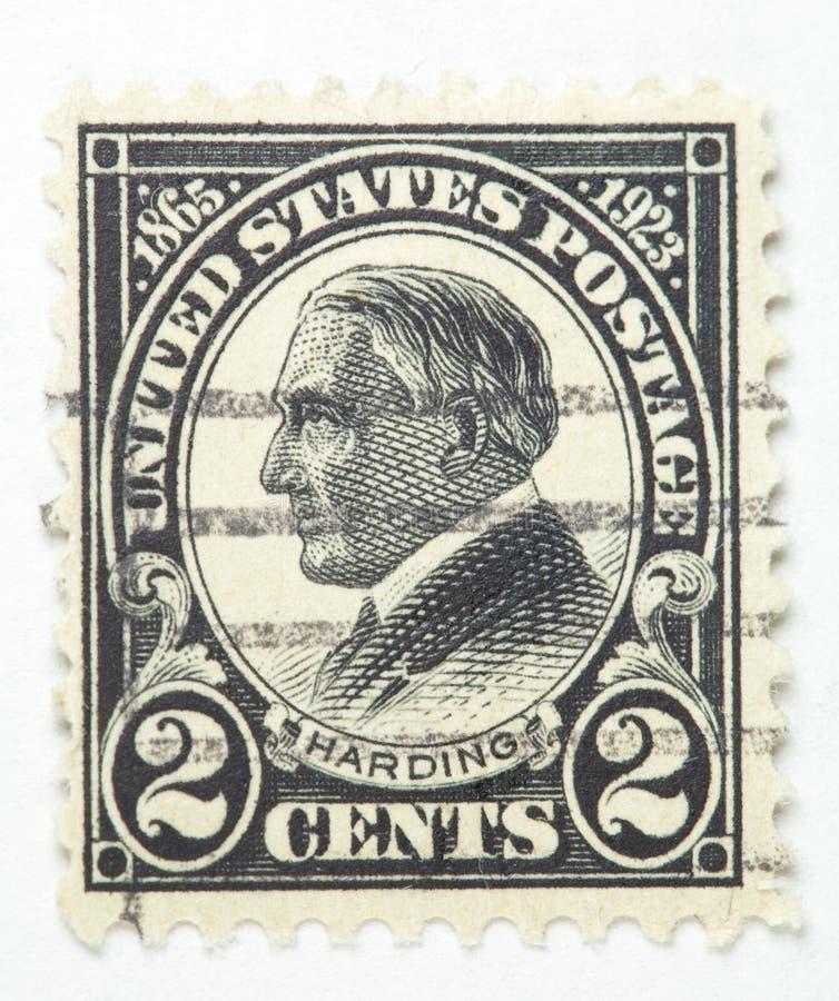 Presidente Harding Stamp 1922-1929 foto de archivo