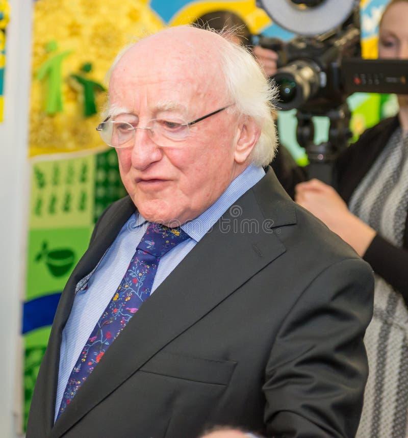 Presidente irlandês Michael D Higgins imagens de stock