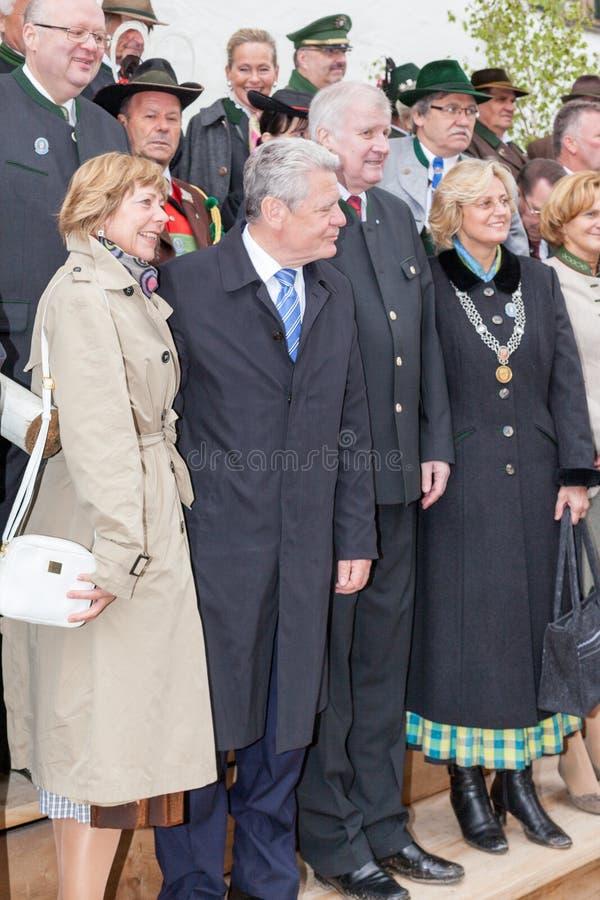 Presidente Joachim Gauck y primer ministro Horst Seehofer imagen de archivo libre de regalías
