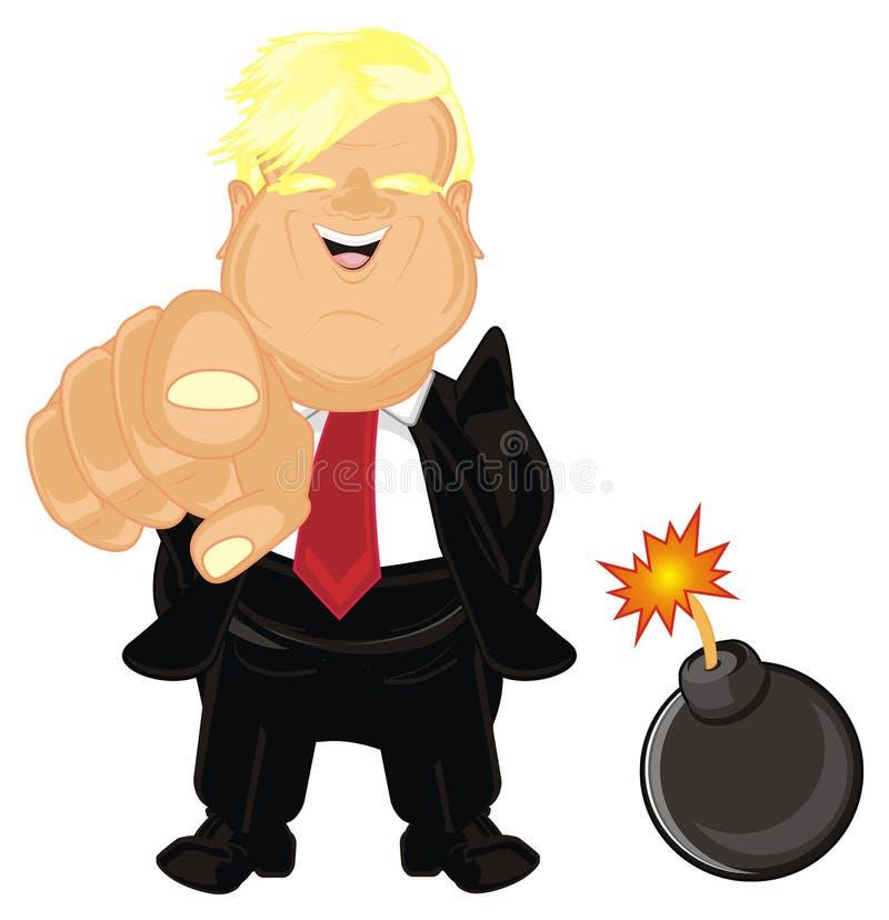 Presidente los E.E.U.U. con una bomba libre illustration