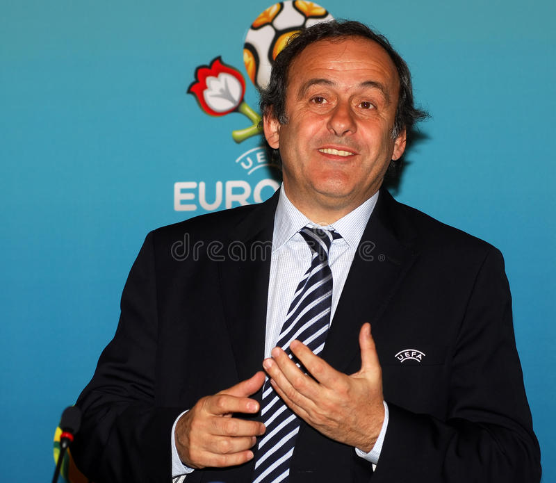 Presidente Michel Platini do UEFA imagem de stock royalty free