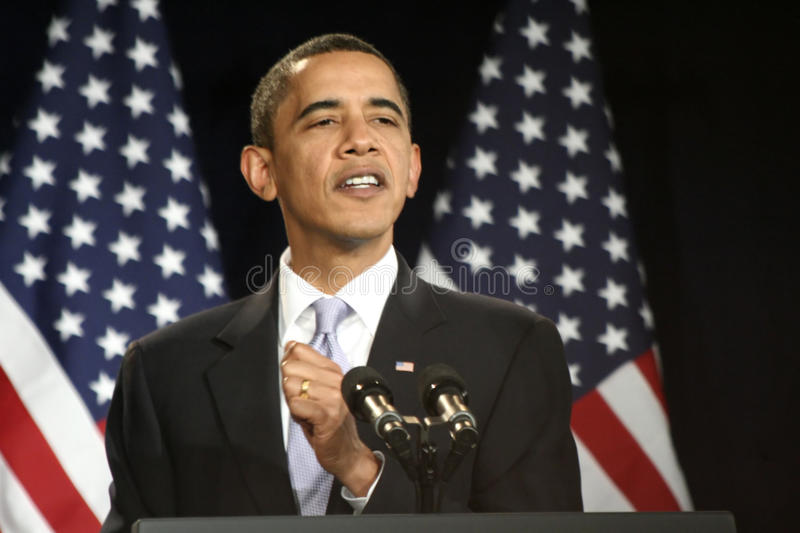 Presidente Obama fotografia de stock