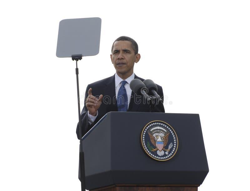 Presidente Obama em Praga fotografia de stock