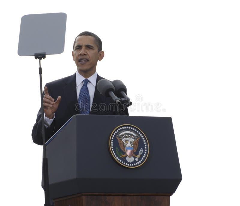 Presidente Obama en Praga imágenes de archivo libres de regalías