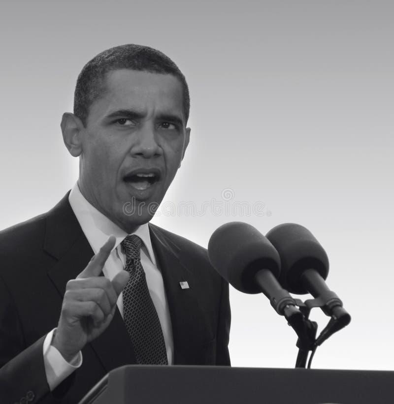 Presidente Obama en Praga foto de archivo libre de regalías