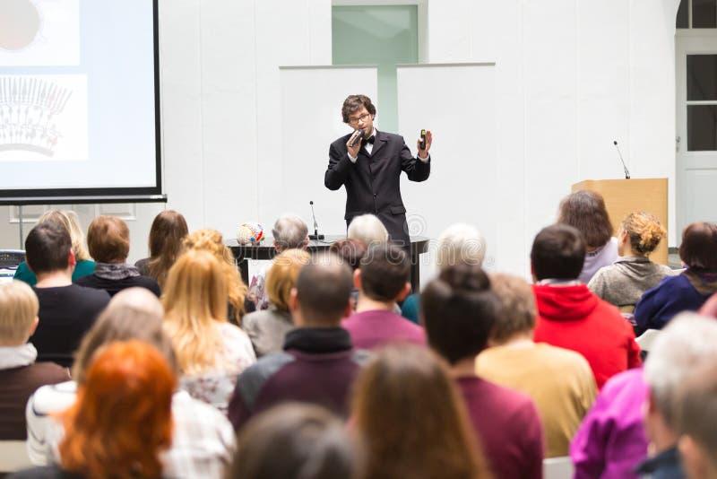 Presidente que habla en el congreso de negocios foto de archivo libre de regalías
