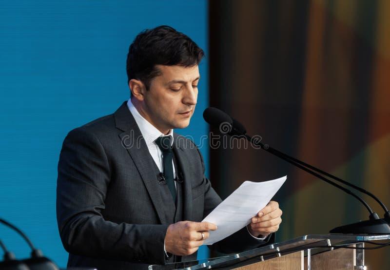 Presidente recentemente eleito de Ucrânia Vladimir Zelensky fotos de stock