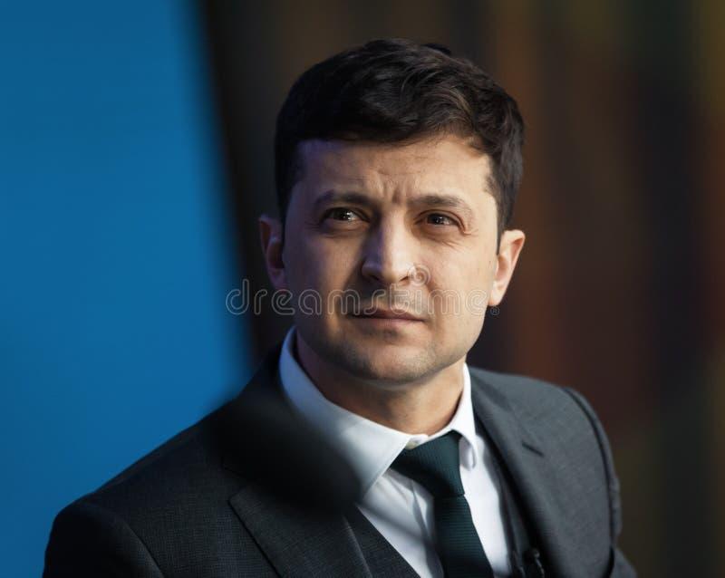 Presidente recentemente eleito de Ucr?nia Vladimir Zelensky fotografia de stock