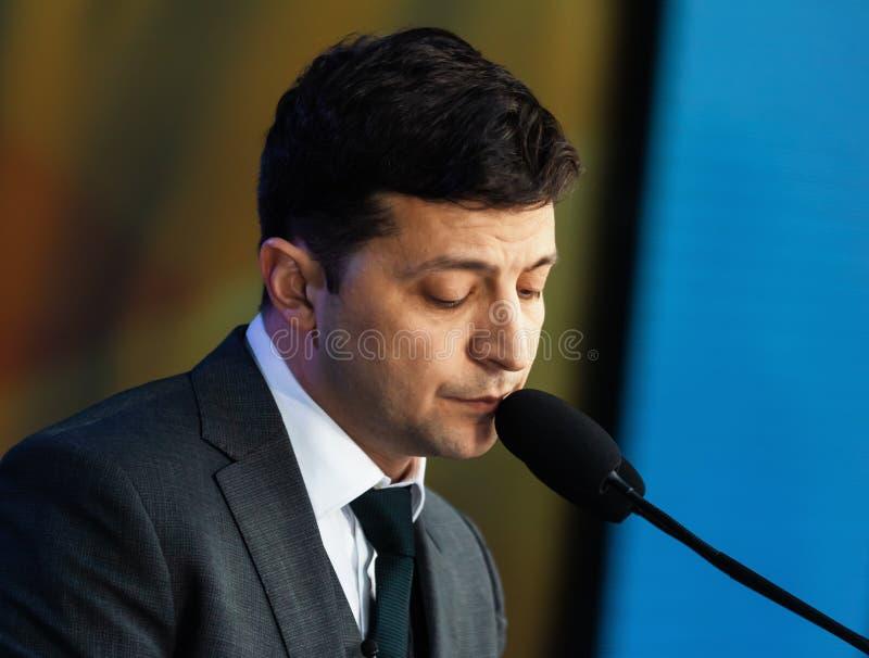 Presidente recentemente eleito de Ucr?nia Vladimir Zelensky fotografia de stock royalty free