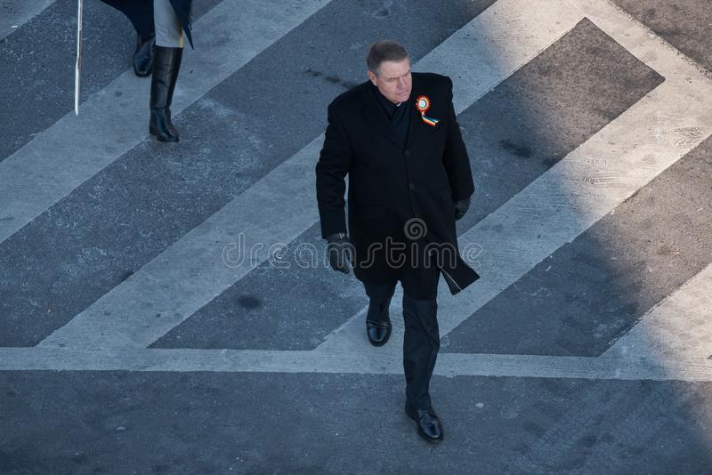 Presidente romeno Klaus Iohannis imagens de stock