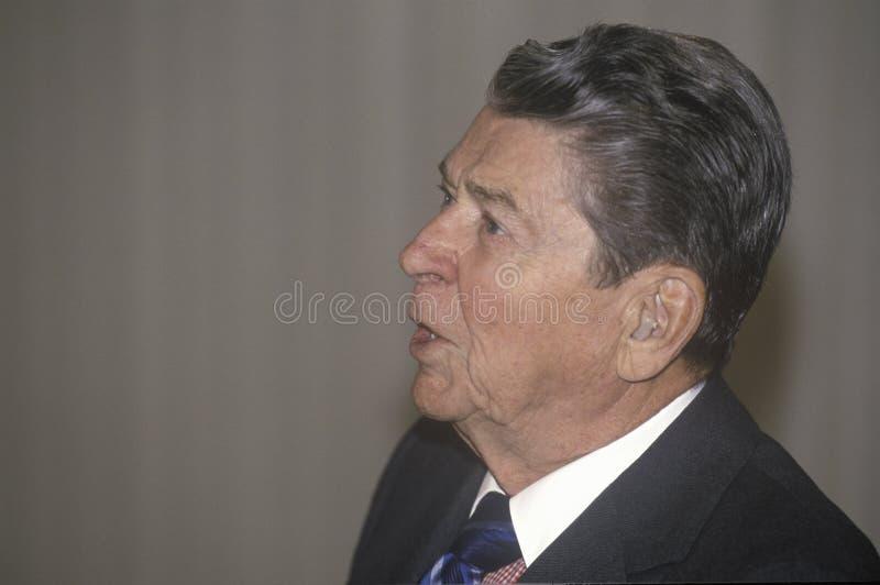 Presidente Ronald Reagan foto de stock