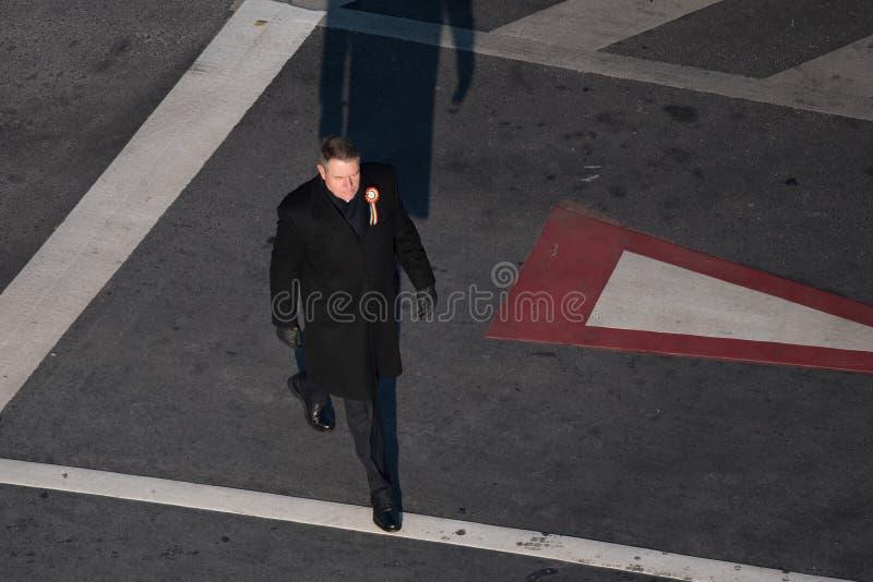 Presidente rumeno Klaus Iohannis fotografia stock