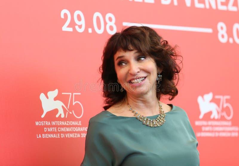 Presidente Susanne Bier della giuria di realtà virtuale di Venezia immagini stock libere da diritti