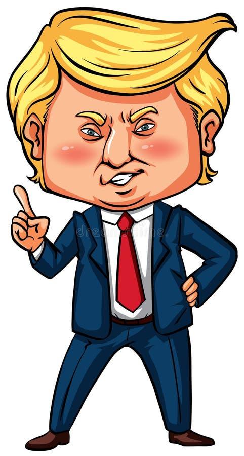 Presidente triunfo de los E.E.U.U. con su señalar del finger libre illustration