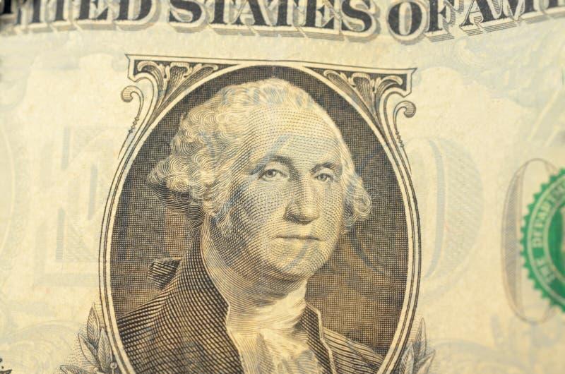 Presidente Washington en un primer del billete de dólar fotos de archivo
