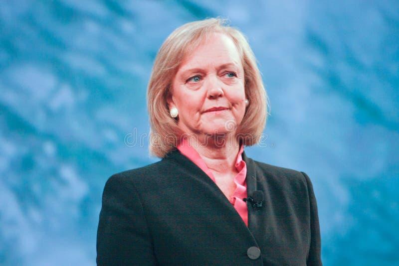 Presidente y Director General Meg Whitman del HP fotografía de archivo