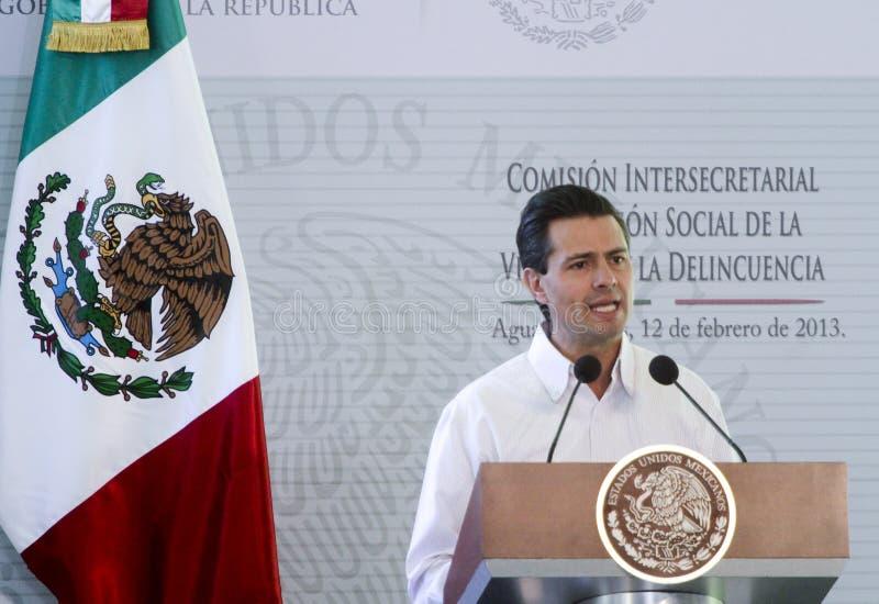 Presidenten av Mexico, Enrique Peña Nieto arkivbild