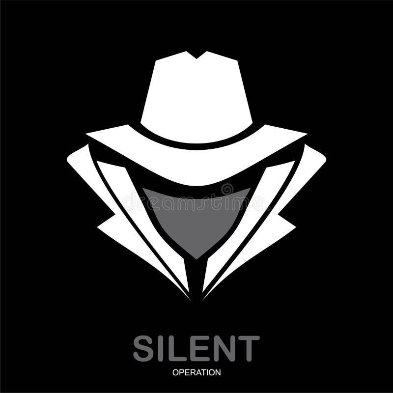 Presidentens säkerhetstjänstmedelsymbol inkognito hacker Spionmedel underco vektor illustrationer