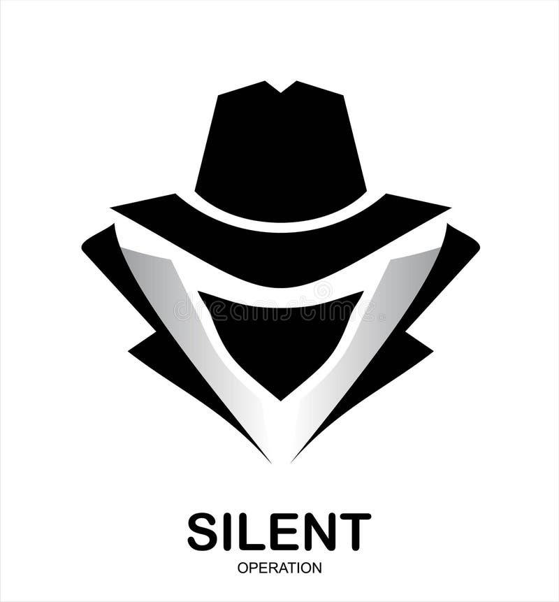 Presidentens säkerhetstjänstmedelsymbol inkognito hacker Spionmedel underco royaltyfri illustrationer