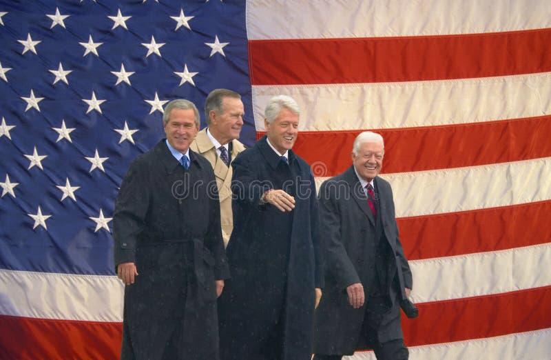 Presidentes anteriores dos E.U. fotos de stock