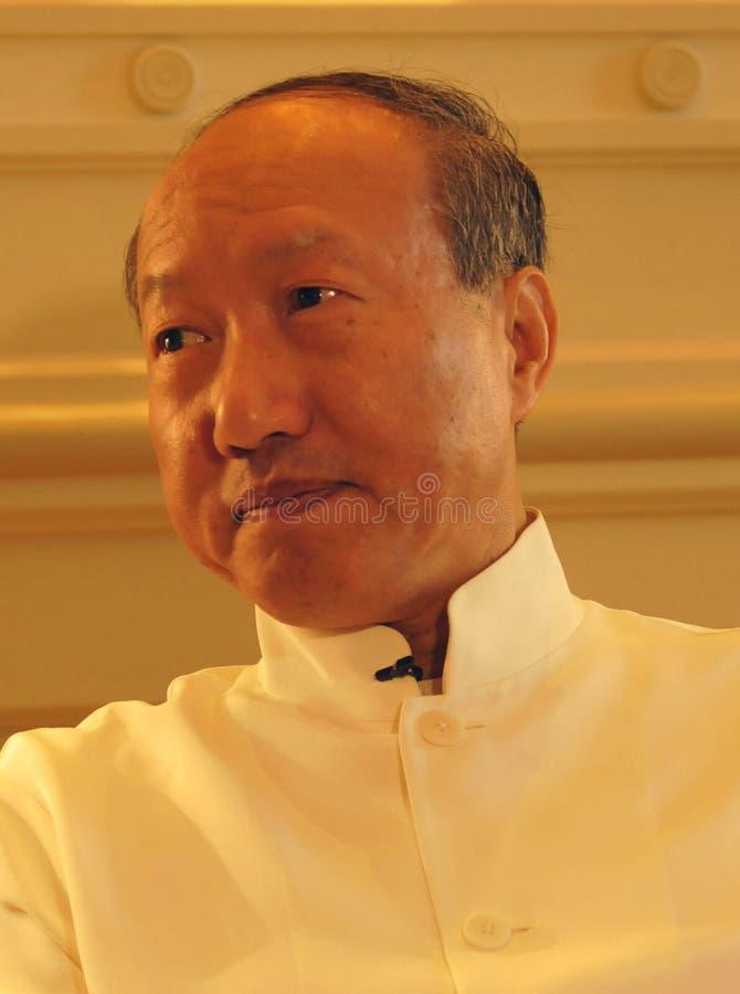 Presidentes Chen Feng do grupo de HNA, ° do ³ do 陈å, multimilionário, em um negócio imagens de stock royalty free