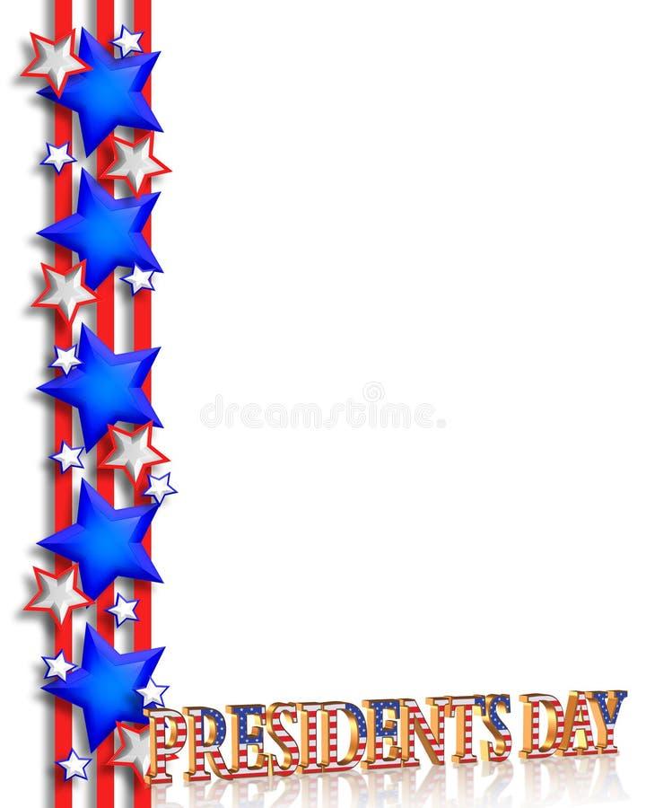 Presidentes Day Background Border ilustración del vector