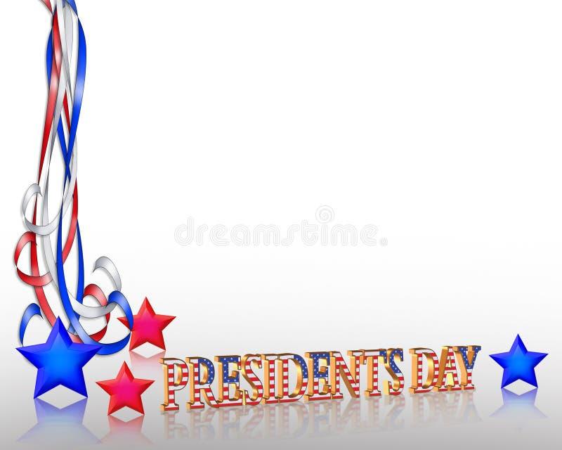 Presidentes Day Background Border stock de ilustración