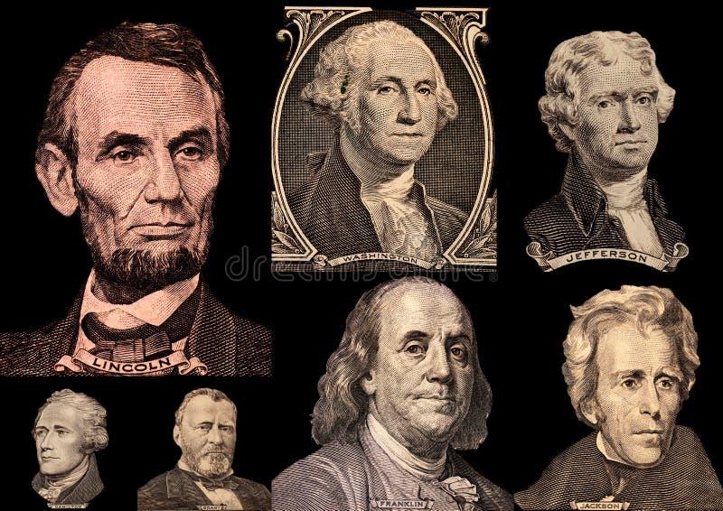 Presidentes dos Estados Unidos do retrato foto de stock