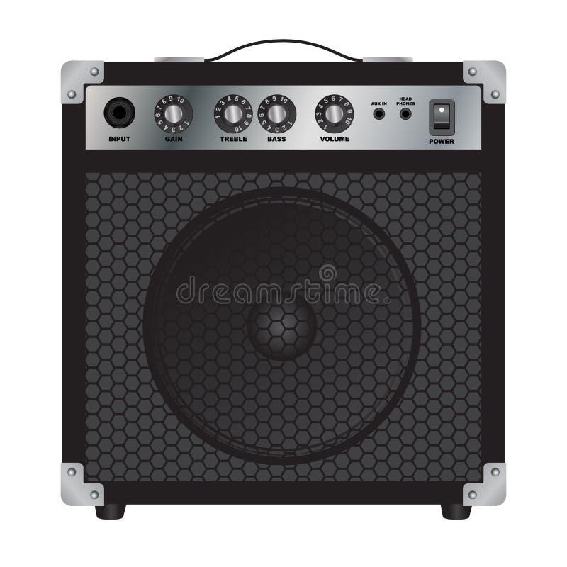 Presidentes para la guitarra eléctrica Amplificador combinado Amplificador de la guitarra ilustración del vector