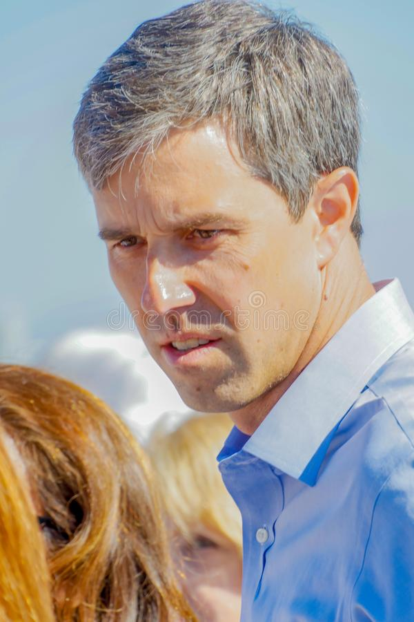 Presidentiële kandidaat Beto O 'Rourke royalty-vrije stock fotografie