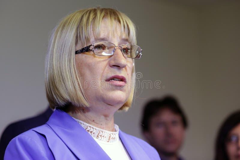 Presidentiële kandidaat Tsetska Tsacheva royalty-vrije stock foto