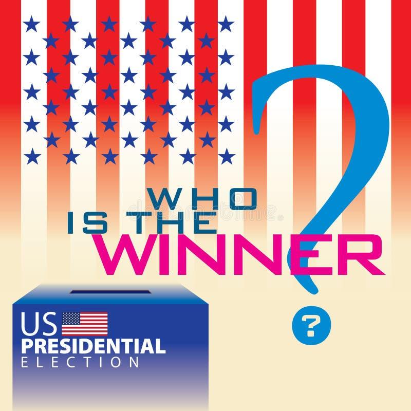 Presidentiële Verkiezing 03 van de V.S. vector illustratie