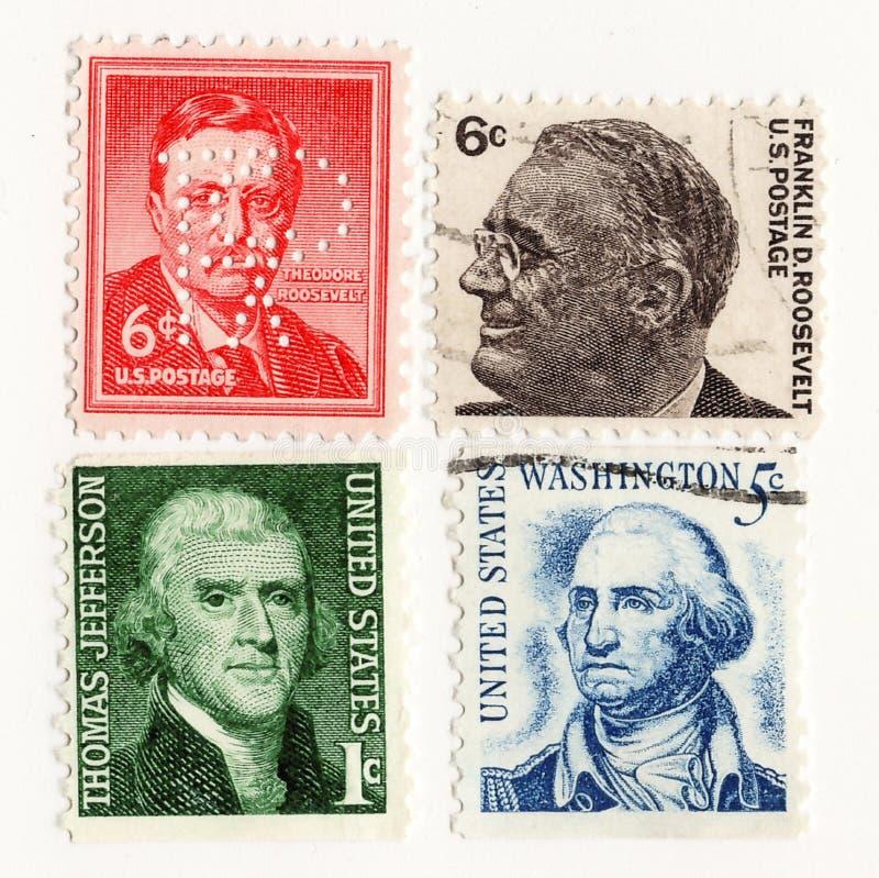 Presidenti 1950 del francobollo di U.S.A. fotografia stock libera da diritti