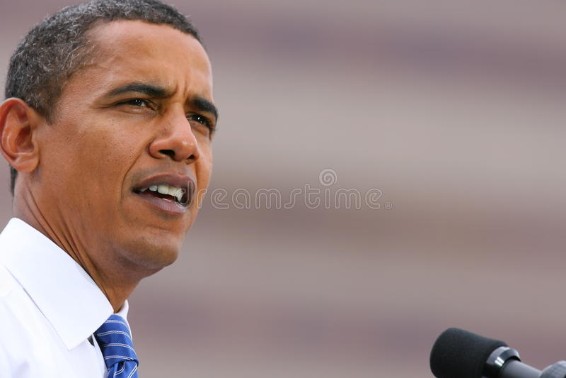 Presidential Candidate, Barack Obama royalty free stock photos